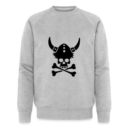 Totenkopf mit Wikingerhelm - Männer Bio-Sweatshirt