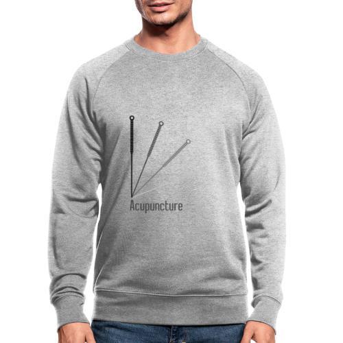 Acupuncture Eventail (logo noir) - Sweat-shirt bio