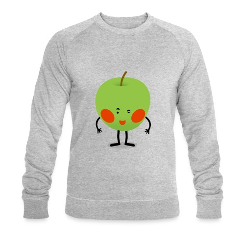 Happy Apfel - Männer Bio-Sweatshirt von Stanley & Stella