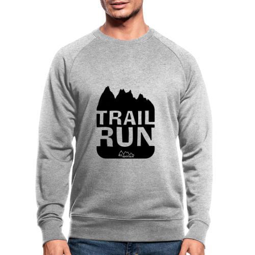 Trail Run - Männer Bio-Sweatshirt