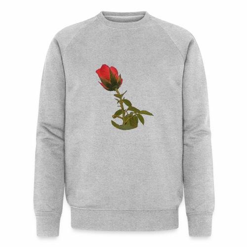 Rote Kletter Rose - Männer Bio-Sweatshirt von Stanley & Stella