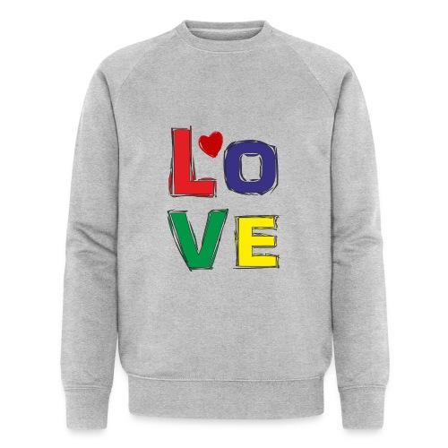 LOVE - Männer Bio-Sweatshirt von Stanley & Stella