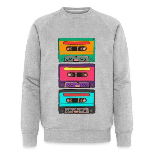 Colorful Cassettes row - Ekologisk sweatshirt herr