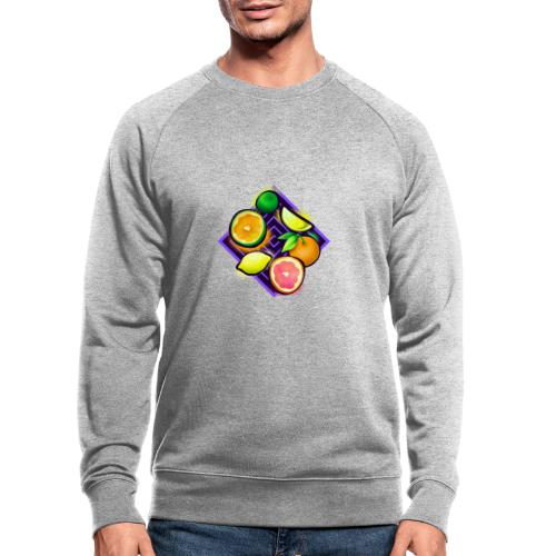 Citrus Pop Art - Männer Bio-Sweatshirt