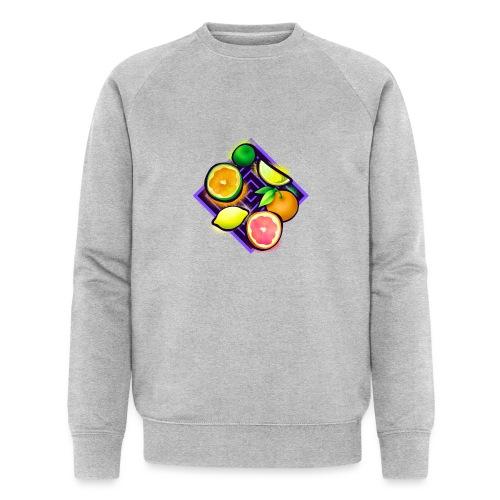 Citrus Pop Art - Männer Bio-Sweatshirt von Stanley & Stella