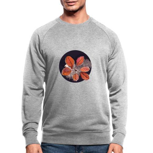 Herbstblätter Kreis - Männer Bio-Sweatshirt