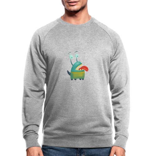 Liebeskrankes Monster, das Zunge heraus streckt - Männer Bio-Sweatshirt