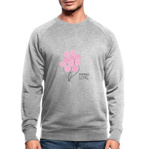 Himbeerbonbon Blumenstrauß - Männer Bio-Sweatshirt