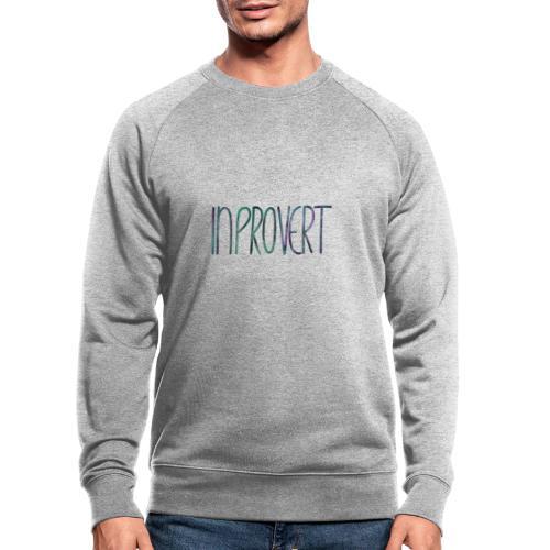 Introvert 3 - inprovert - Männer Bio-Sweatshirt