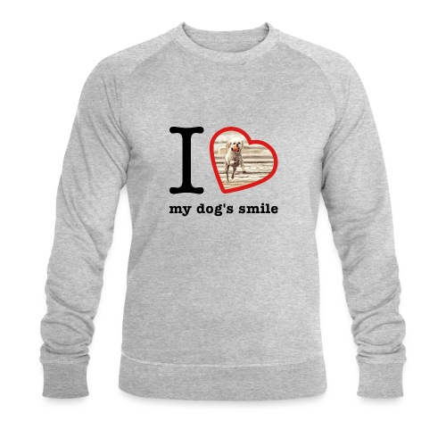 I love my dog's smile :) dog smile - Men's Organic Sweatshirt by Stanley & Stella