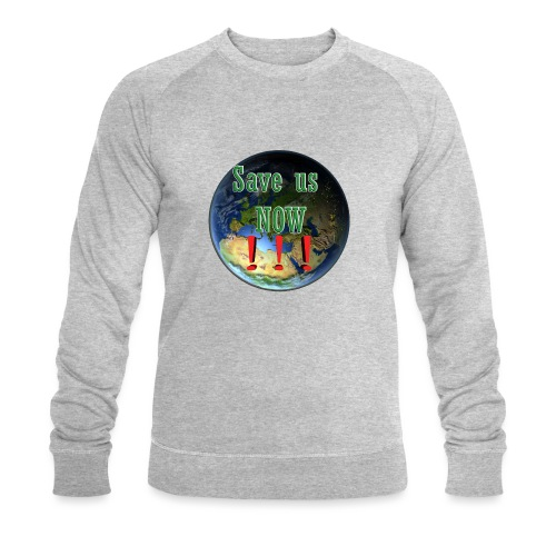 save us earth friday for future - Men's Organic Sweatshirt by Stanley & Stella