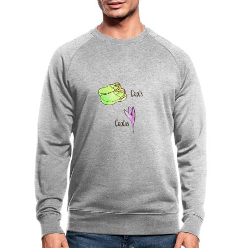 Crocs und Crocus - Männer Bio-Sweatshirt