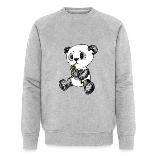 Panda bjørn farvet scribblesirii - Økologisk Stanley & Stella sweatshirt til herrer