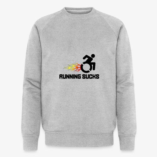 Rolstoel gebruikers vinden rennen niet leuk - Mannen bio sweatshirt van Stanley & Stella