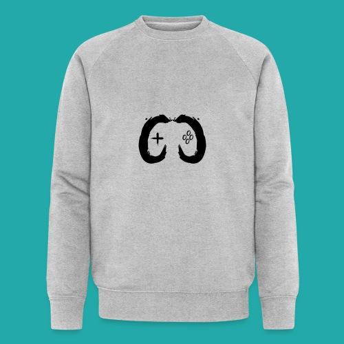 Crowd Control Controller Logo Black Large - Men's Organic Sweatshirt
