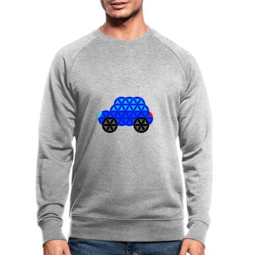The Car Of Life - M01, Sacred Shapes, Blue/R01. - Men's Organic Sweatshirt