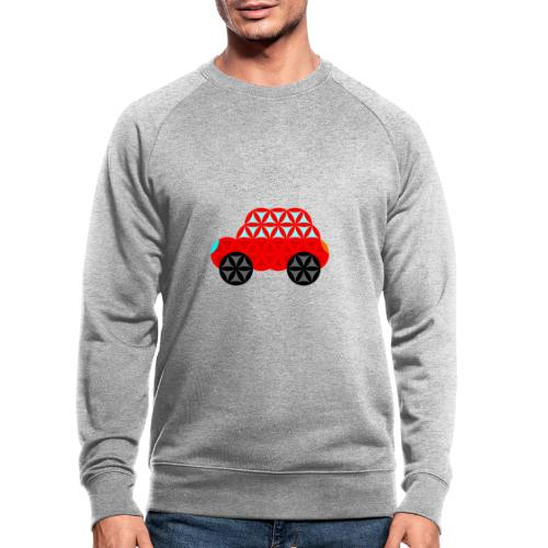 The Car Of Life - M01, Sacred Shapes, Red/R01. - Men's Organic Sweatshirt