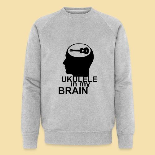 Ukulele in my brain - Männer Bio-Sweatshirt