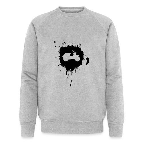 Schwalbe Farbklecks rot - Männer Bio-Sweatshirt