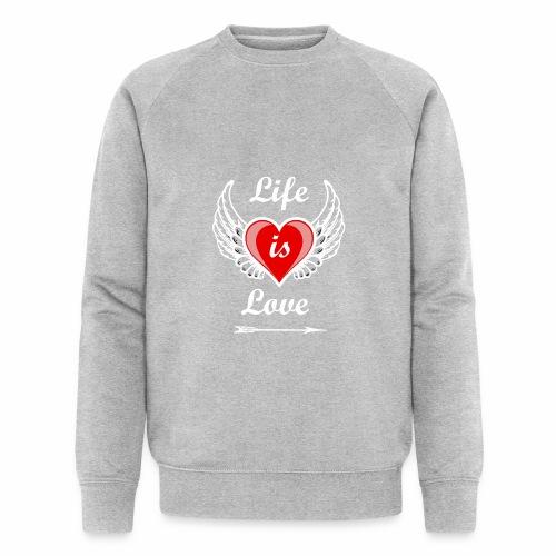 Life is Love - Männer Bio-Sweatshirt von Stanley & Stella