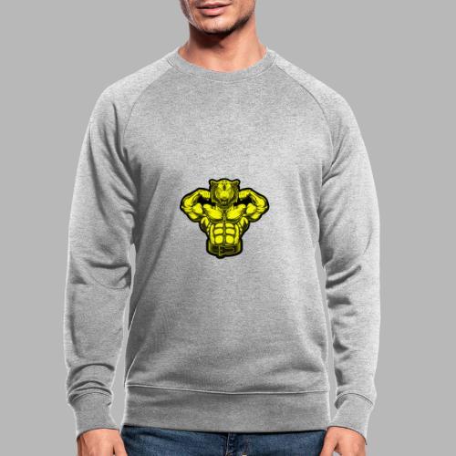 Bodybuilder Wolf - Männer Bio-Sweatshirt