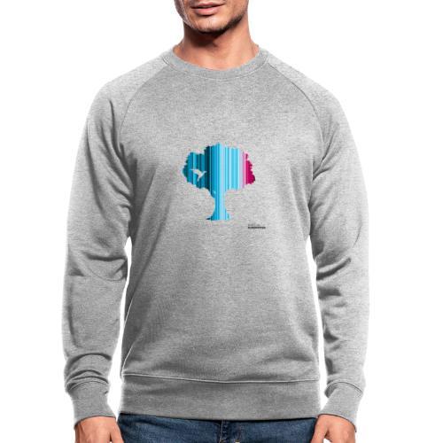 Warming stripes: Wir brauchen die Natur! - Männer Bio-Sweatshirt