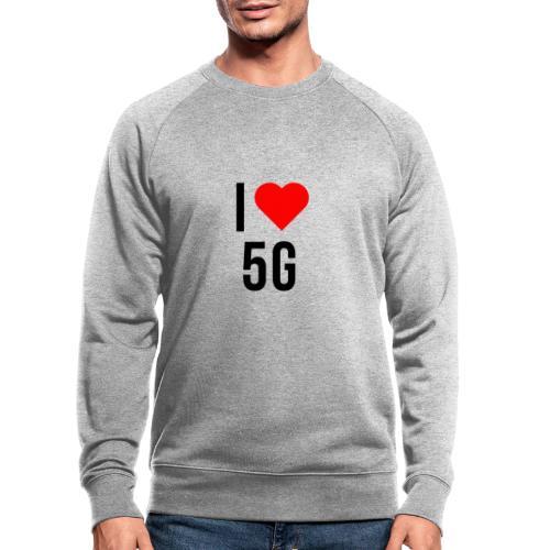 ilove5g - Männer Bio-Sweatshirt
