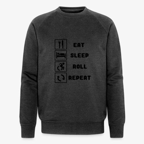 >Eten, slapen, rollen met rolstoel en herhalen 001 - Mannen bio sweatshirt van Stanley & Stella