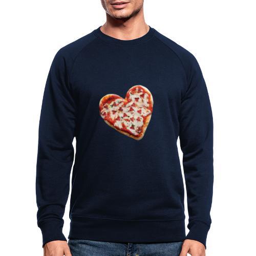 Pizza a cuore - Felpa ecologica da uomo