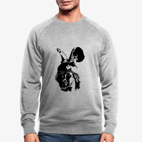 Kopf des Hermannsdenkmals - einfarbig, schlicht - Männer Bio-Sweatshirt