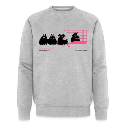 gegen käfighaltung auf weiß j - Männer Bio-Sweatshirt von Stanley & Stella
