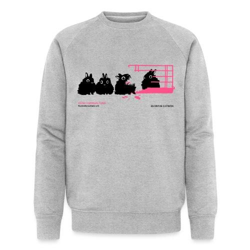 gegen käfighaltung auf weiß j - Männer Bio-Sweatshirt