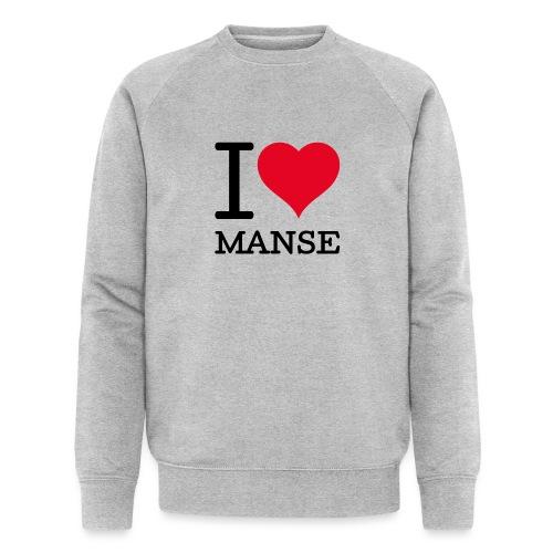 I love Manse - Stanley & Stellan miesten luomucollegepaita