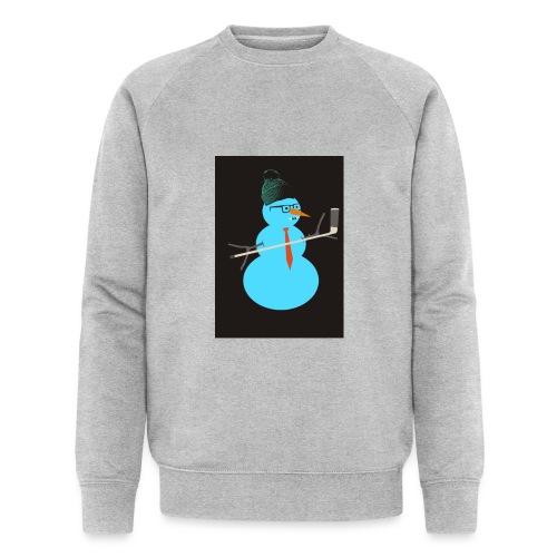 Hockey snowman - Stanley & Stellan miesten luomucollegepaita