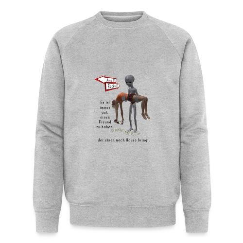 Grey Alien - Männer Bio-Sweatshirt von Stanley & Stella