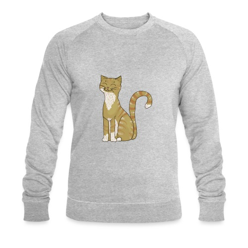 Lieve rooie kater voor kattengek - Men's Organic Sweatshirt by Stanley & Stella
