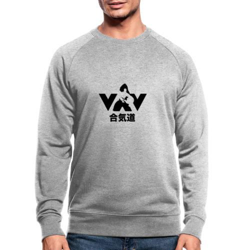 aikido zwart - Mannen bio sweatshirt