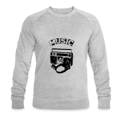 musik1 - Økologisk sweatshirt til herrer