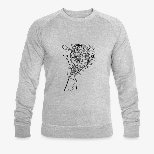shampoo doodles - Men's Organic Sweatshirt by Stanley & Stella