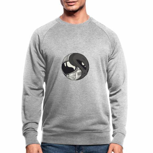 Yin Yang space Alien und Astronaut - Männer Bio-Sweatshirt