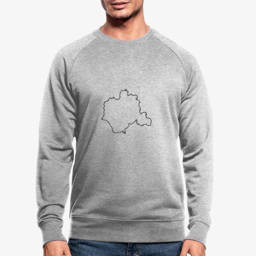 Kontur des Kreises Lippe - Männer Bio-Sweatshirt