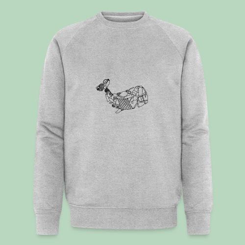 Plastic walvis - Mannen bio sweatshirt van Stanley & Stella