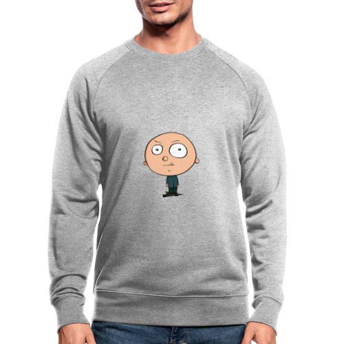 Grimmiger Junge - Männer Bio-Sweatshirt