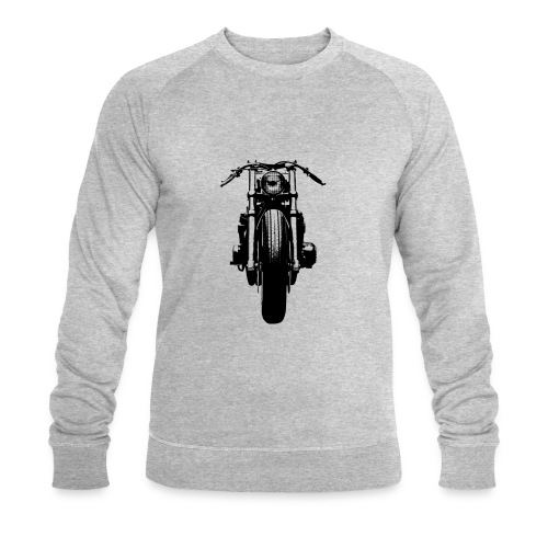 Motorcycle Front - Men's Organic Sweatshirt by Stanley & Stella