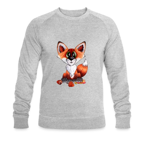 llwynogyn - a little red fox - Miesten luomucollegepaita