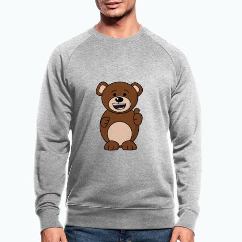 Bruno Bear Happy - Appelsin - Ekologisk sweatshirt herr