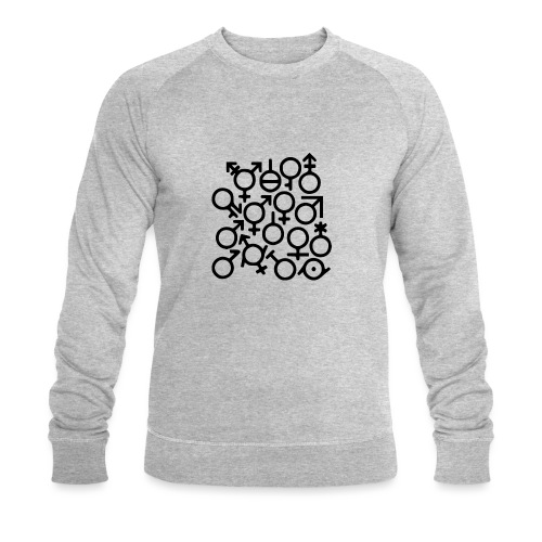 Multi Gender B/W - Mannen bio sweatshirt