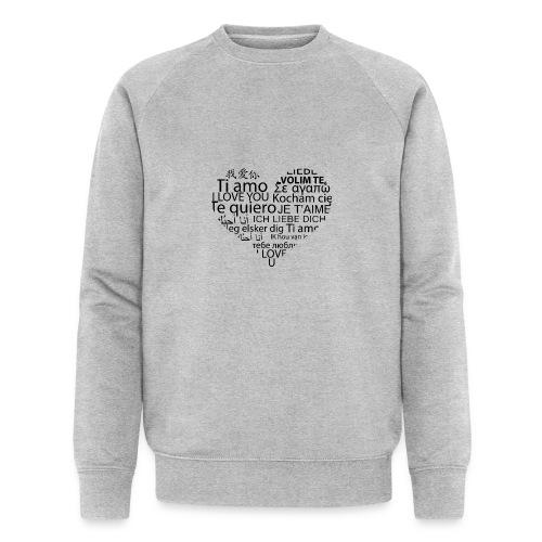 sticker je t aime en coeur ambiance sticker - Männer Bio-Sweatshirt von Stanley & Stella
