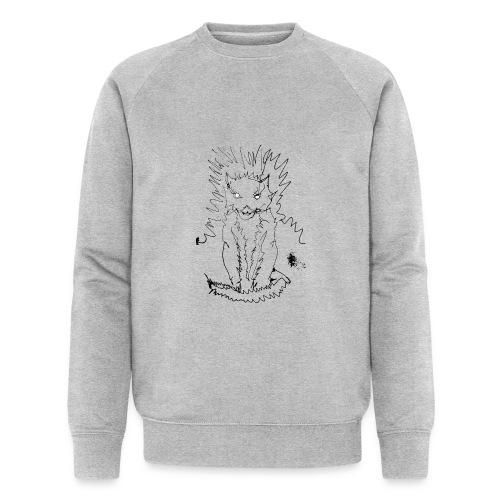 der graue Katzer - Männer Bio-Sweatshirt