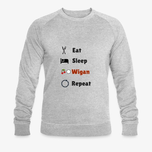 Eat Sleep Wigan Repeat - Men's Organic Sweatshirt by Stanley & Stella